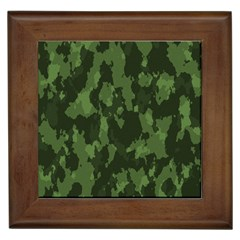 Camouflage Green Army Texture Framed Tiles