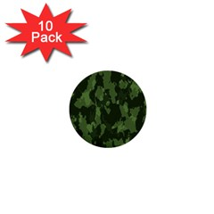 Camouflage Green Army Texture 1  Mini Buttons (10 Pack)