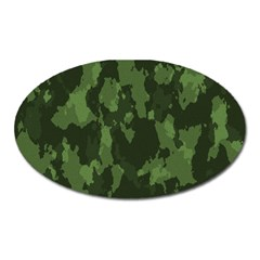 Camouflage Green Army Texture Oval Magnet by BangZart