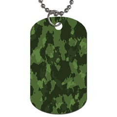 Camouflage Green Army Texture Dog Tag (one Side)