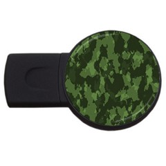 Camouflage Green Army Texture Usb Flash Drive Round (2 Gb) by BangZart