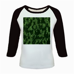 Camouflage Green Army Texture Kids Baseball Jerseys