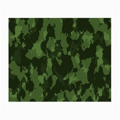 Camouflage Green Army Texture Small Glasses Cloth