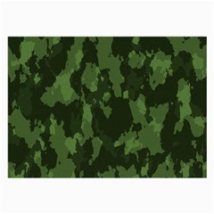 Camouflage Green Army Texture Large Glasses Cloth (2 Side)