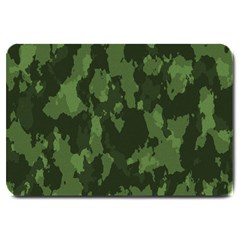 Camouflage Green Army Texture Large Doormat  by BangZart