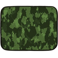 Camouflage Green Army Texture Fleece Blanket (mini) by BangZart