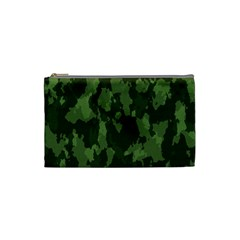 Camouflage Green Army Texture Cosmetic Bag (small)