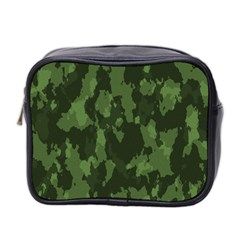 Camouflage Green Army Texture Mini Toiletries Bag 2 Side