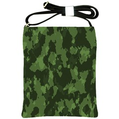 Camouflage Green Army Texture Shoulder Sling Bags