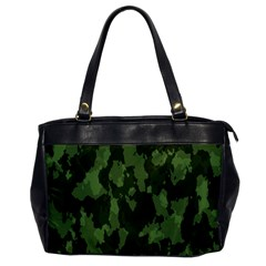 Camouflage Green Army Texture Office Handbags