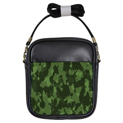 Camouflage Green Army Texture Girls Sling Bags by BangZart