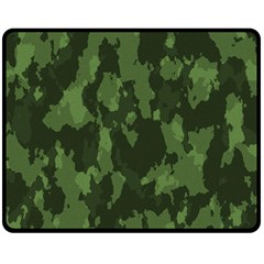 Camouflage Green Army Texture Fleece Blanket (medium)  by BangZart
