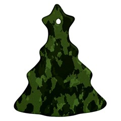 Camouflage Green Army Texture Christmas Tree Ornament (two Sides)
