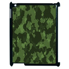 Camouflage Green Army Texture Apple Ipad 2 Case (black)