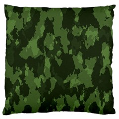 Camouflage Green Army Texture Large Cushion Case (two Sides) by BangZart