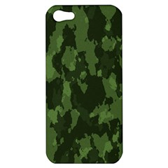 Camouflage Green Army Texture Apple Iphone 5 Hardshell Case
