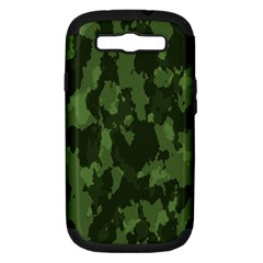 Camouflage Green Army Texture Samsung Galaxy S Iii Hardshell Case (pc+silicone) by BangZart