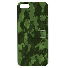 Camouflage Green Army Texture Apple Iphone 5 Hardshell Case With Stand by BangZart