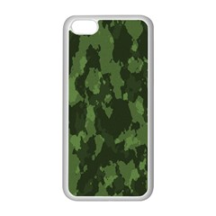 Camouflage Green Army Texture Apple Iphone 5c Seamless Case (white) by BangZart