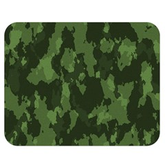 Camouflage Green Army Texture Double Sided Flano Blanket (medium)  by BangZart