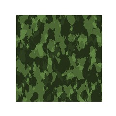 Camouflage Green Army Texture Small Satin Scarf (square) by BangZart