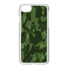 Camouflage Green Army Texture Apple Iphone 7 Seamless Case (white) by BangZart