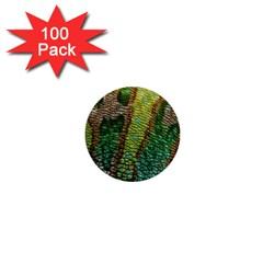 Chameleon Skin Texture 1  Mini Buttons (100 Pack)