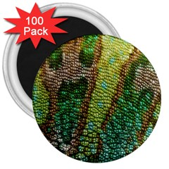 Chameleon Skin Texture 3  Magnets (100 Pack) by BangZart