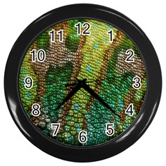Chameleon Skin Texture Wall Clocks (black) by BangZart
