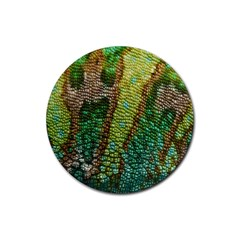 Chameleon Skin Texture Rubber Coaster (round)  by BangZart