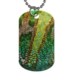 Chameleon Skin Texture Dog Tag (two Sides) by BangZart