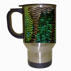Chameleon Skin Texture Travel Mugs (white) by BangZart