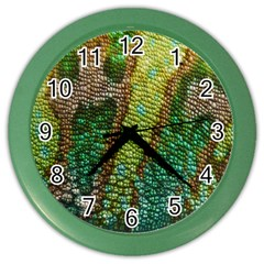 Chameleon Skin Texture Color Wall Clocks by BangZart