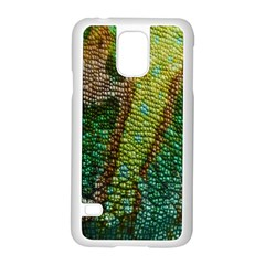 Chameleon Skin Texture Samsung Galaxy S5 Case (white) by BangZart
