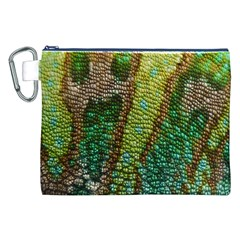 Chameleon Skin Texture Canvas Cosmetic Bag (xxl) by BangZart