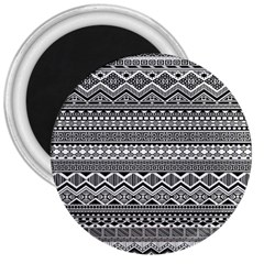 Aztec Pattern Design 3  Magnets by BangZart