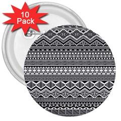 Aztec Pattern Design 3  Buttons (10 Pack)