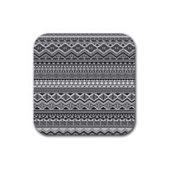 Aztec Pattern Design Rubber Coaster (square)