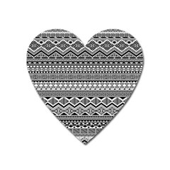 Aztec Pattern Design Heart Magnet