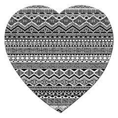 Aztec Pattern Design Jigsaw Puzzle (heart)