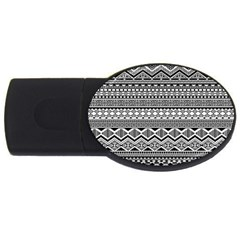Aztec Pattern Design Usb Flash Drive Oval (4 Gb)