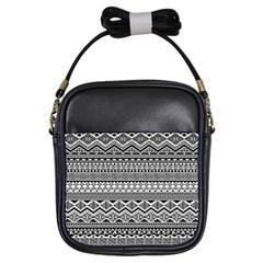 Aztec Pattern Design Girls Sling Bags by BangZart