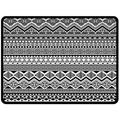Aztec Pattern Design Fleece Blanket (large)