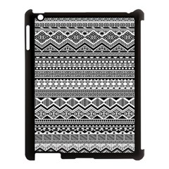 Aztec Pattern Design Apple Ipad 3/4 Case (black) by BangZart