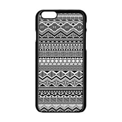Aztec Pattern Design Apple Iphone 6/6s Black Enamel Case by BangZart