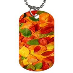 Leaves Texture Dog Tag (one Side)