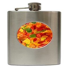 Leaves Texture Hip Flask (6 Oz)