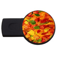 Leaves Texture Usb Flash Drive Round (4 Gb)