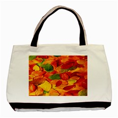Leaves Texture Basic Tote Bag by BangZart