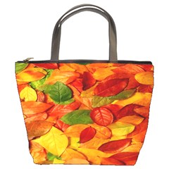 Leaves Texture Bucket Bags by BangZart